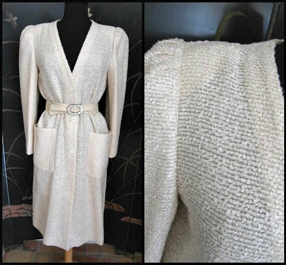 Agnona Coat / Vintage Italian Coat / Silk Knit Co… - image 3