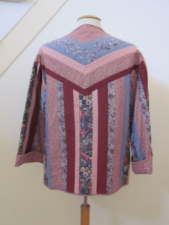 Quilted Jacket / Vintage Quilted Jacket / Artisan… - image 3