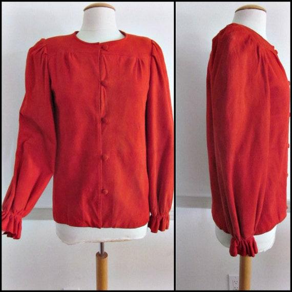 West Bay Suede jacket / Red Suede Jacket / Red Sue