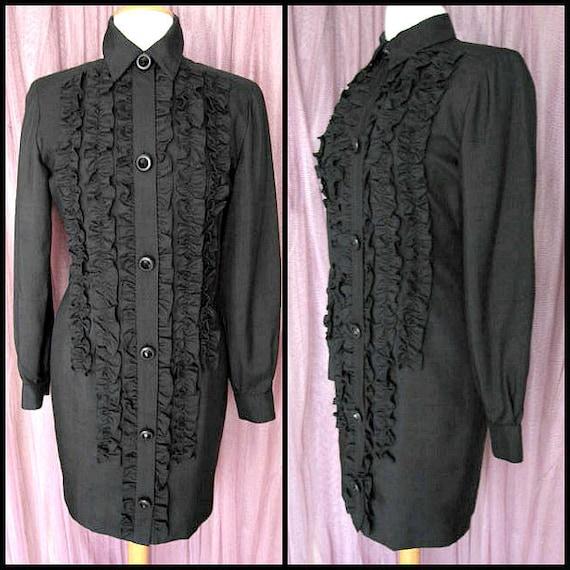 Steve Fabrikant Tuxedo Dress / Vintage Tuxedo Dres