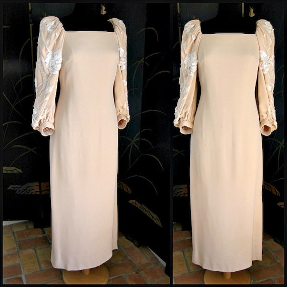 Pink Couture Gown / Couture Blush Gown / Vintage C