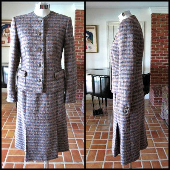 Jaeger tweed suit / fits XS-S / Vintage Jaeger Twe