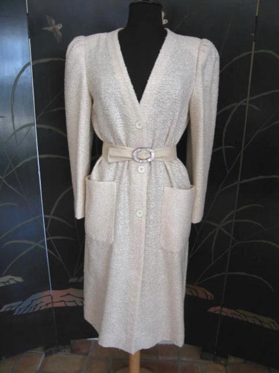 Agnona Coat / Vintage Italian Coat / Silk Knit Co… - image 10