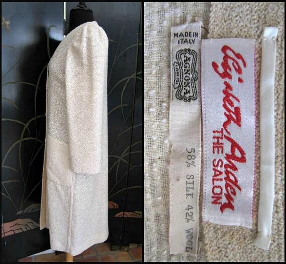 Agnona Coat / Vintage Italian Coat / Silk Knit Co… - image 6