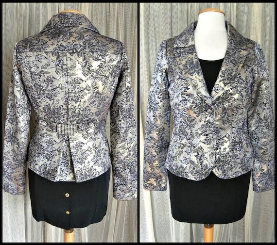 Metallic Brocade Jacket / fits XS-S / 9% Metallic