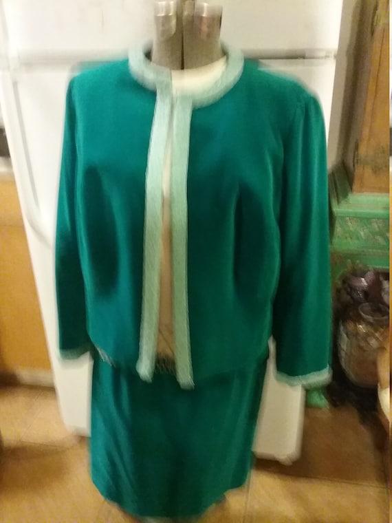 3 piece velvet turquoise suit
