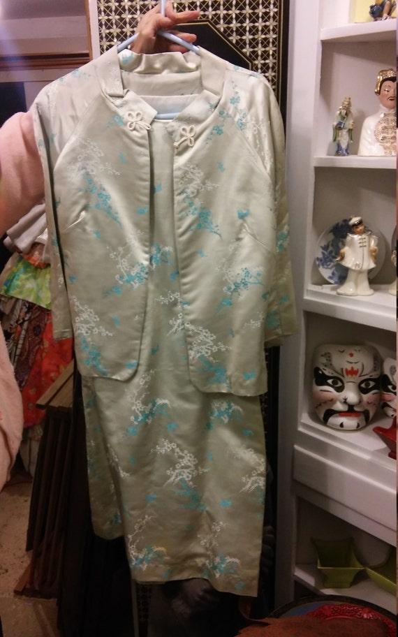 Asian silk suit