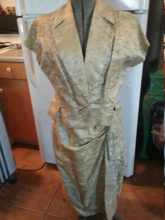 Asian silk dress and jacket