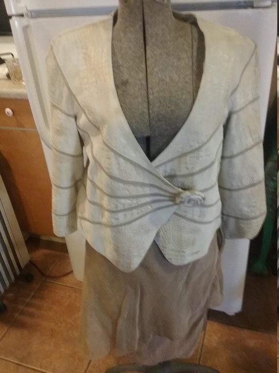 Armani suit leather jacket