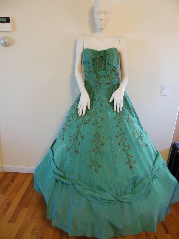 Emma Domb Green 40's Ballgown