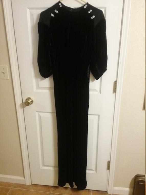 1930's Velvet Evening Dress