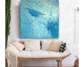 canvas ocean art, ocean art original, canvas ocean, christmas gift, acrylic painting, acrylic ocean, ocean wall art, waves art, waves canvas