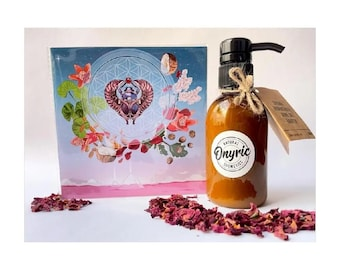 Incense cream, birthday gift cream, Christmas, natural cosmetics, body lotion, myrrh, body cream, pink petals, shea, coconut, karite butter