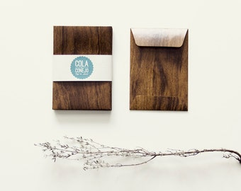 Paper bag with wood look (mini)