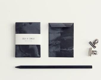 Paper bag dark marbling (mini)