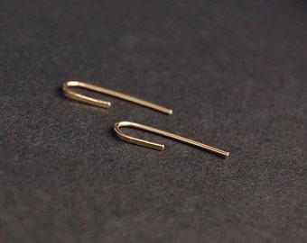 Gold Threader Earrings - gold earrings, gold filled earrings, minimalist earrings, minimal earrings, minimal gold earrings, dainty earrings