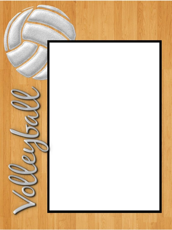 Items similar to 8x6 Volleyball Woodfloor Picture Frame on ...