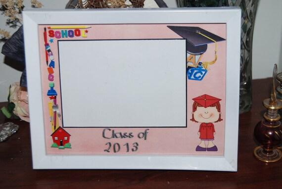 8x6 Class of 2014 Kindergarten Graduation Framed Picture Matte   Etsy