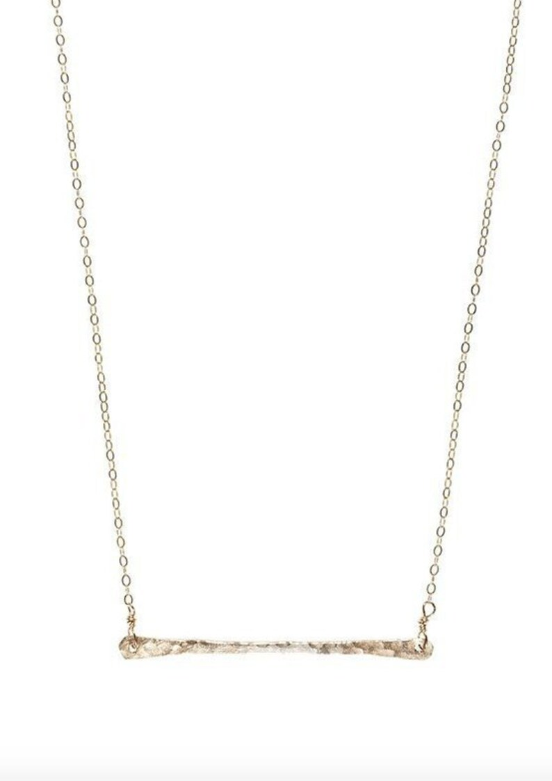 Gold Bar Necklace image 0