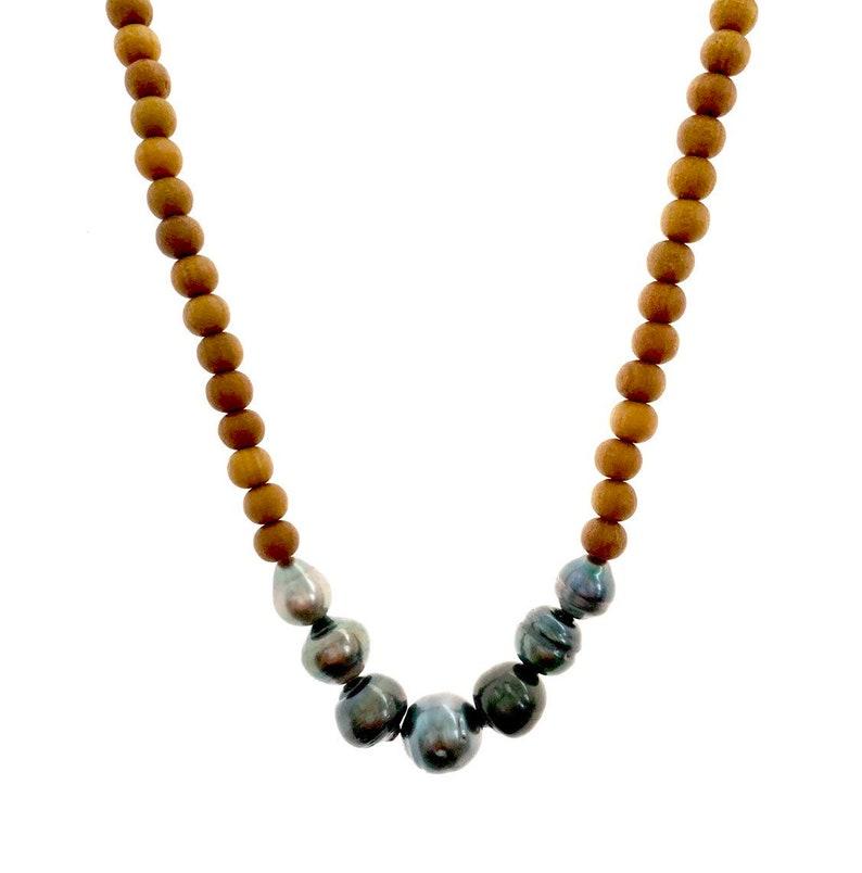 Tahitian Pearl Sandalwood Necklace image 0
