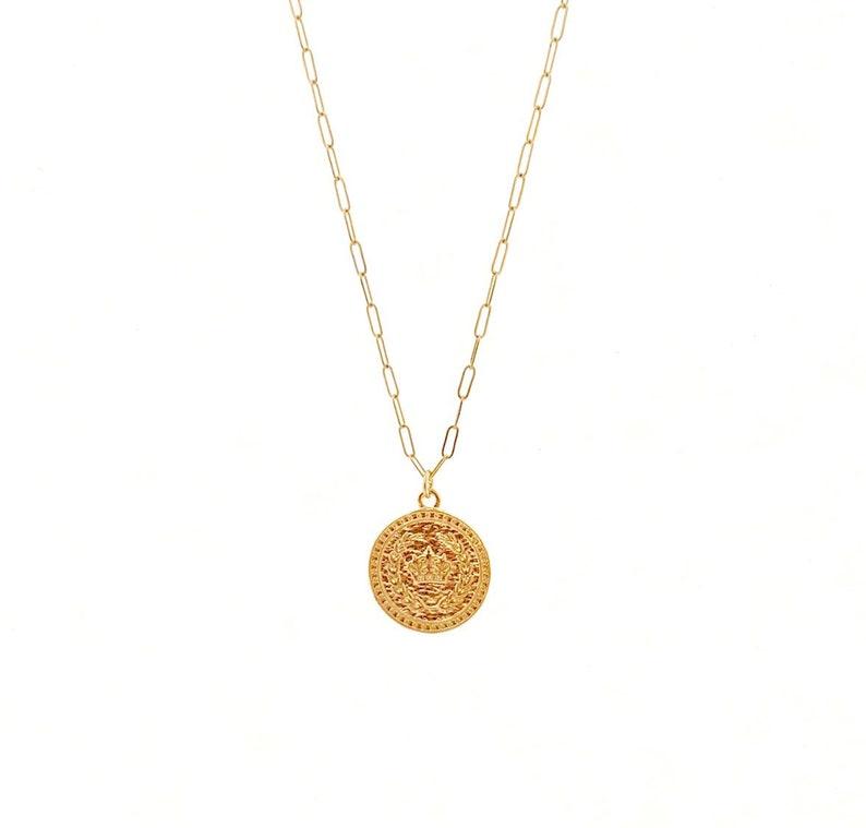 Royal Crown Medallion Necklace image 0