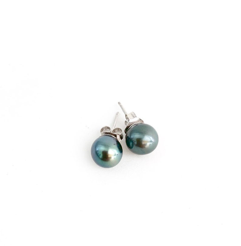 Tahitian pearl stud earrings image 0