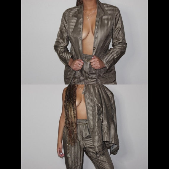 VTG 90s Metallic Pin Stripped Suit