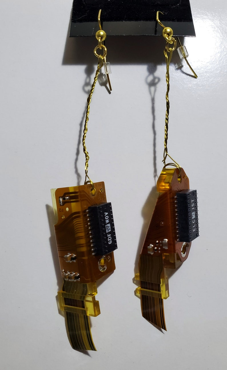 Computer hard drive connector earrings image 0