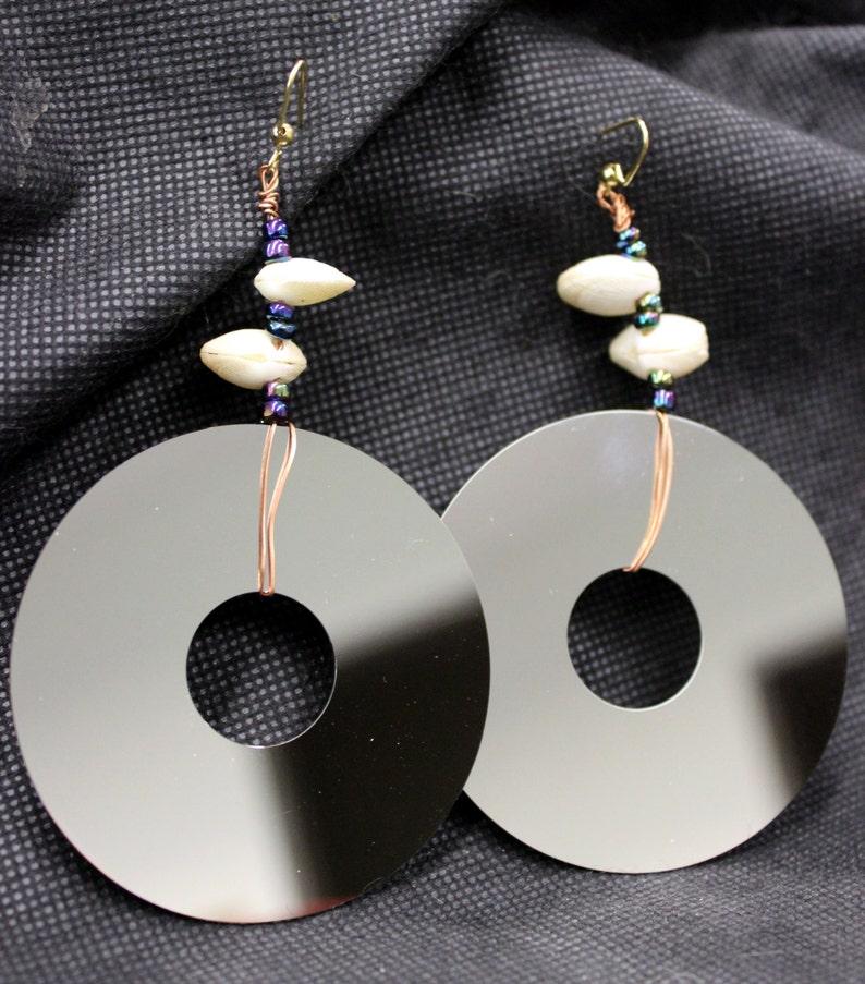 Lap top computer hard drive platter earrings image 0
