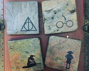 Harry Potter Coasters - Set of 4