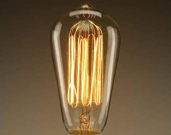 4-pack Clear Classic Vintage Light Bulbs 60 Watts, filament Edison bulbs S21  E26- Free shipping