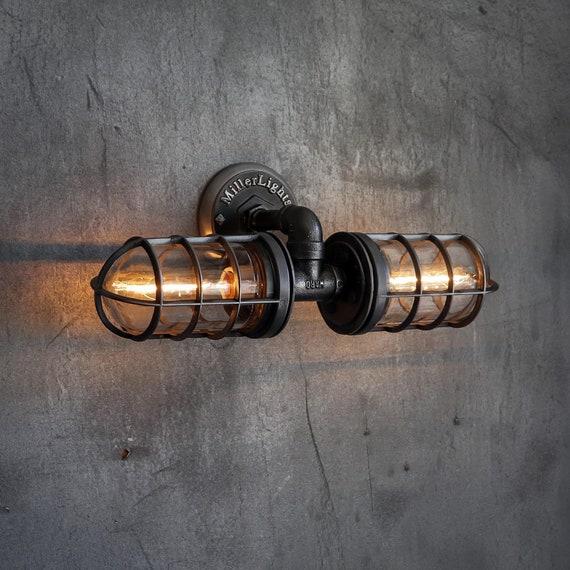 Industrial Mirror Light Fixture, Nautical Light Fixtures Bathroom