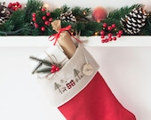 Personalized Christmas Stockings, Christmas stocking, linen Christmas stockings, linen stocking, Rustic christmas decor