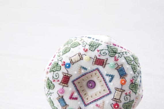 Cross Stitch Pin Neddle Cushion Biscornu Needlework DIY Kit Embroidery Set Counted Cross-Stitching Pincushion 14CT ZC051A LoveSL