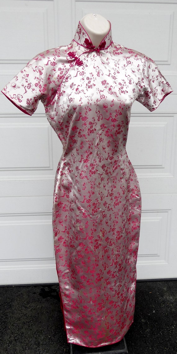 Vintage 40's silk Chinese lady QiPao (H)