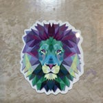 Watercolor Lion Laptop or Cell Phone Sticker