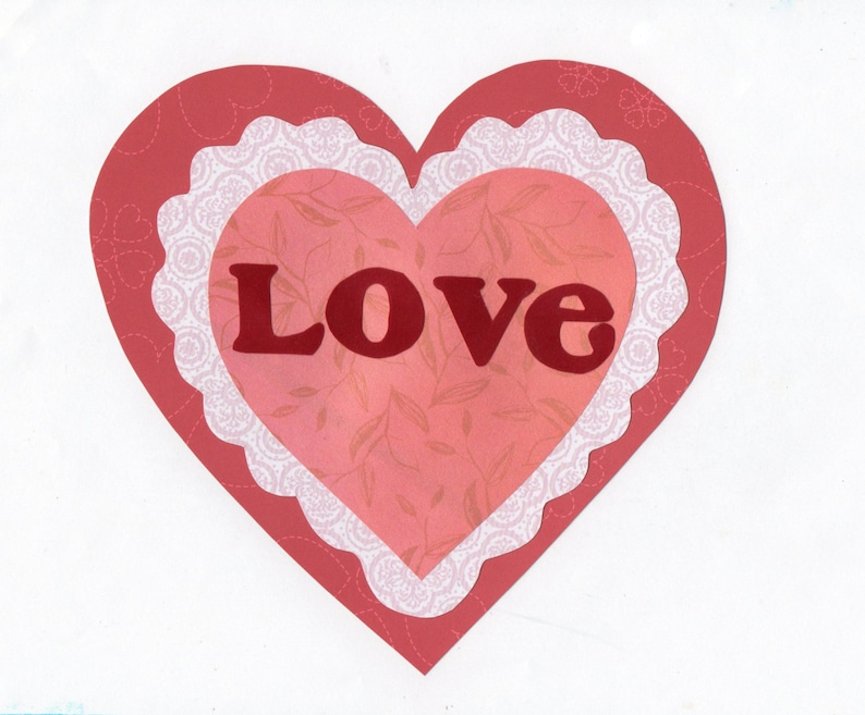 Valentine s day love heart applique template etsy