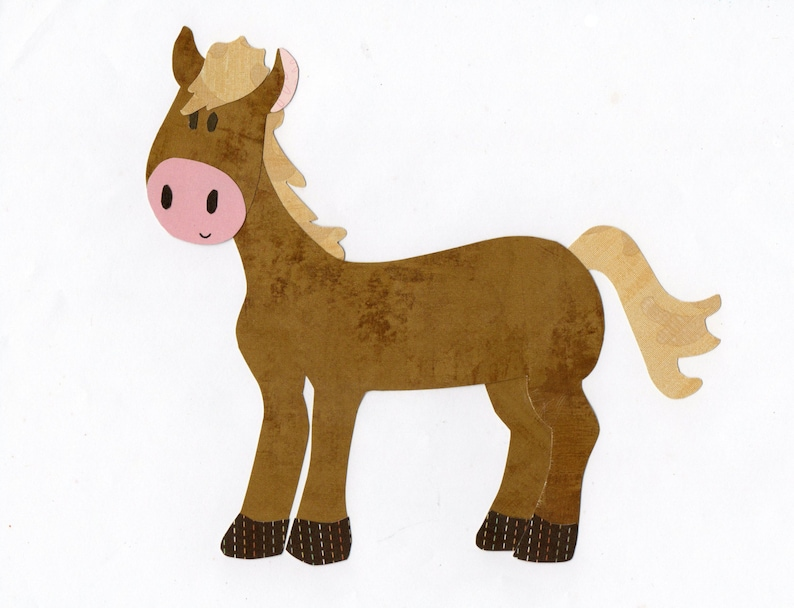 Farm animal horse applique template etsy
