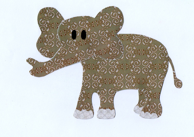 Jungle Safari Zoo Animal Elephant Applique Template for   Etsy