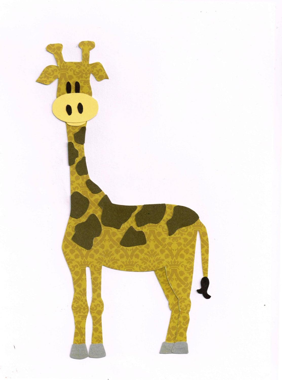 Giraffe Applique Template / Pattern Zoo Animals Jungle   Etsy