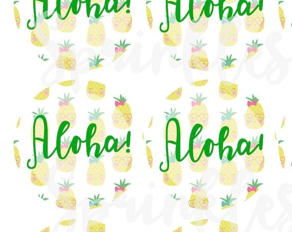 Aloha Circle Tags