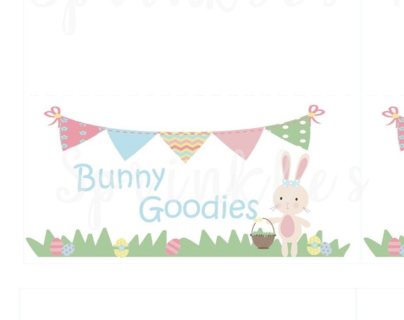 Bunny Goodies Treat Bag Topper