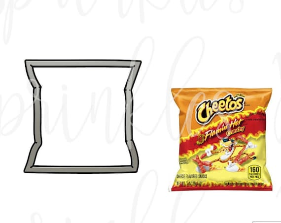 Hot Cheeto Bag Cookie Cutter