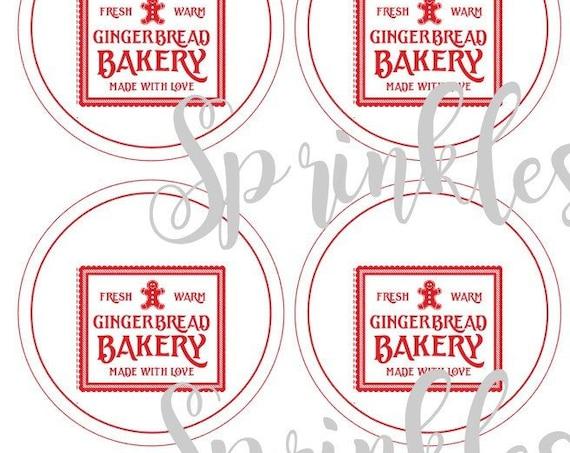 Gingerbread Print and Cut Tag