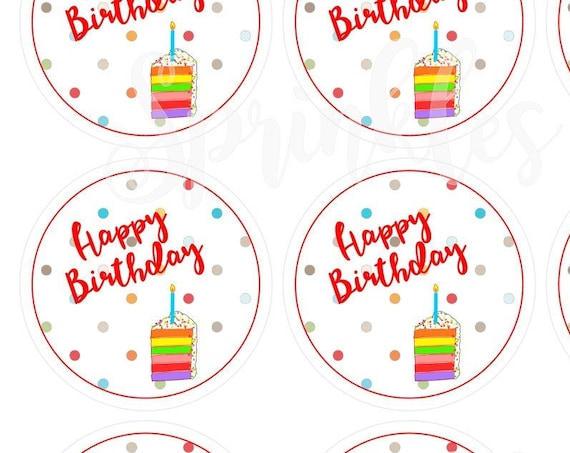 Happy Birthday Print and Cut Tags