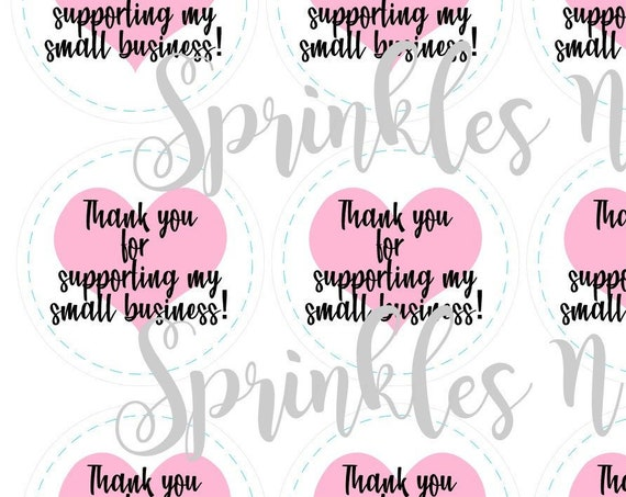 Thank you for supporting my small business tags