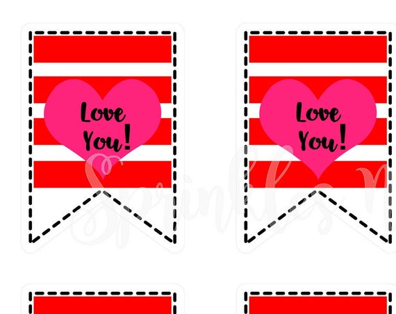 Valentine Print and Cut Tags-Love You!