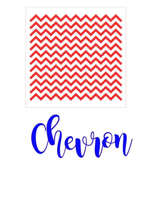 Chevron Stencil