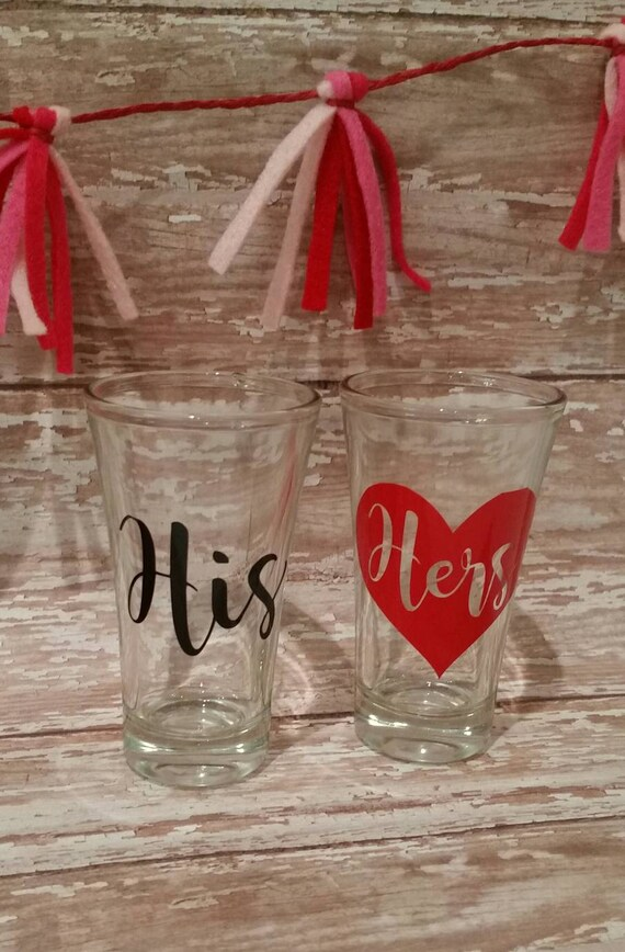 His and Hers Shot Glasses