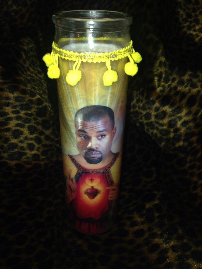 Kanye Kitschy Kandle  Celebrity Prayer Candle image 0